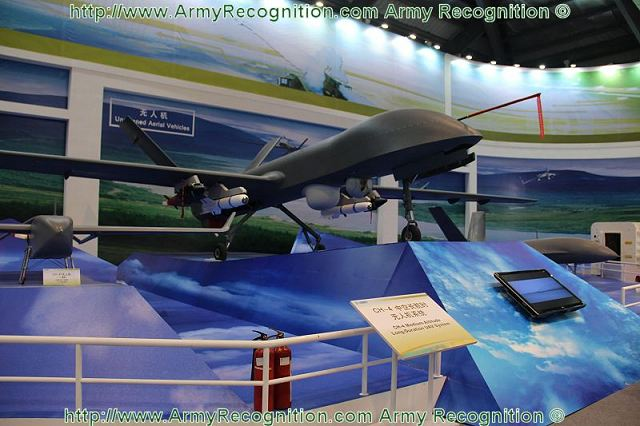 Chinese aviation defence industry launches the CH-4 medium altitude long endurance (MALE) unmanned aerial vehicle (UAV) at the 9th AirShow China in Zhuhai, demonstrates China's efforts in designing and manufacturing of new generation of UAV. There are two variants, the CH-4A and the CH-4B.