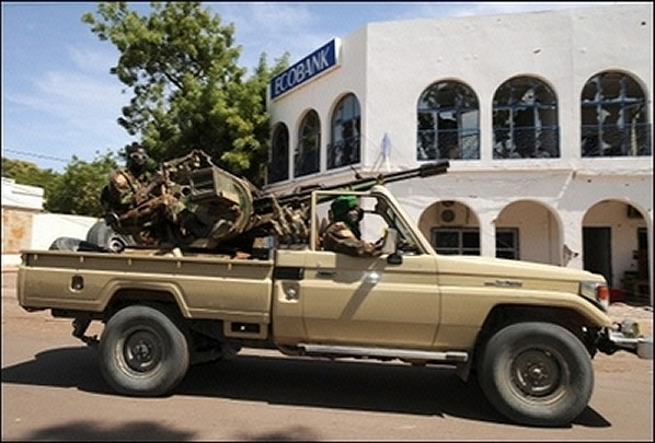 Chadian Army Toyota jeep with zu-23-2 anti-aircraft gun picture