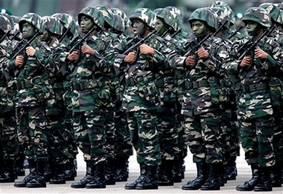 Malaysian soldiers during military parade army day picture malaysian