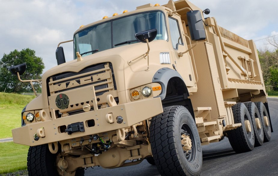 Mack Defense M917A3 Heavy Dump Trucks meet specification with CARC coatings