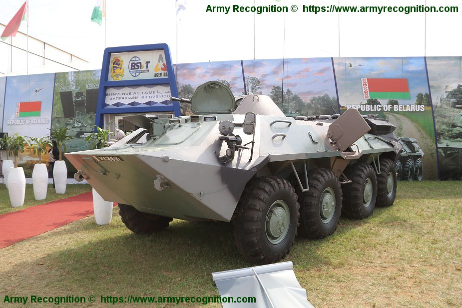 Belarus BTR 70MB 8x8 armored delivered to Cote Ivoire army ShieldAfrica 2019 925 003