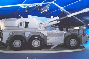 G6-52 155mm 52 calibre wheeled self-propelled howitzer data sheet specifications description information intelligence pictures photos images video  identification South Africa African army defence industry military technology Denel Land Systems artillery armoured vehicle