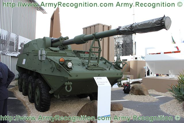 LAV III Stryker T7 105 mm self-propelled howitzer technical data sheet specifications description information intelligence pictures photos images identification South Africa African defence industry military technology Denel artillery