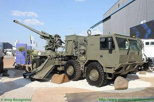 T5-45 155mm wheeled self-propelled howitzer technical data sheet specifications pictures video description information intelligence photos images identification Denel Land Systems South Africa African army defence industry military technology