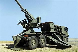 T5-52 155mm wheeled self-propelled howitzer technical data sheet specifications pictures video description information intelligence photos images identification Denel Land Systems South Africa African army defence industry military technology