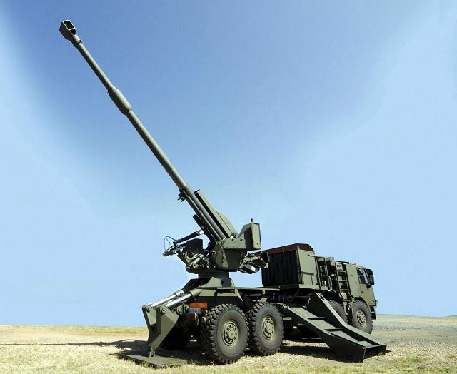 T5-52 T5-45 155mm wheeled self-propelled howitzer ...