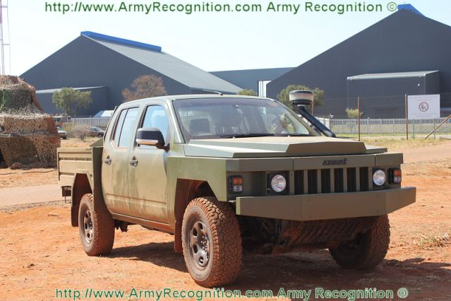 During the live demonstration of AAD 2012, Africa Aerospace and Defence exhibition in South Africa, the French Company ACMAT presents its light tactical vehicle ALTV, the the first military pick-up produced in France and dedicated to tactical missions.