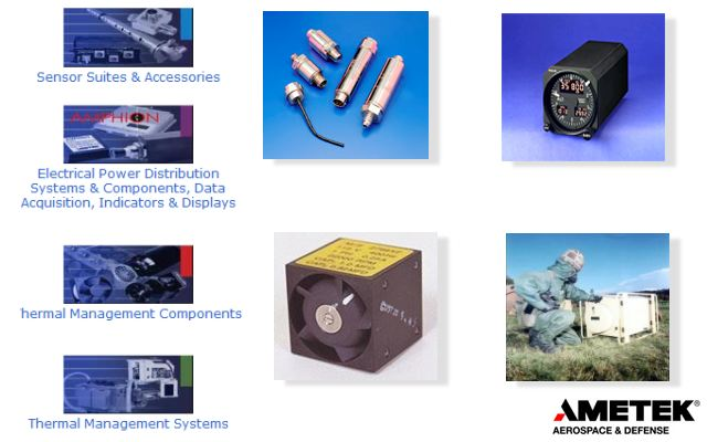 AMETEK Aerospace & Defense is a leading manufacturer of highly engineered and cost effective engine sensor suites, aircraft data management systems, cooling and ventilating systems, environmental control systems, and a variety of sub-assemblies to military and aerospace customers. AMETEK will be exhibiting at this year's Africa and Aerospace Defense exhibition when it returns to its traditional base bigger and better at AFB Waterkloof after six years.