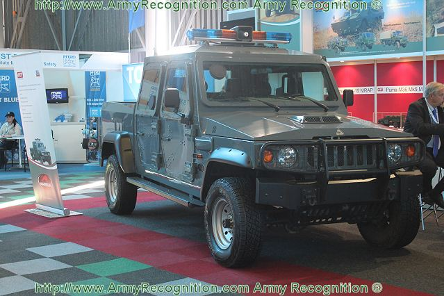 At AAD 2012, the Africa Aerospace and Defence Exhibition which take place in Pretoria, South Africa from the 19 to 23 September 2012, the South African Company OOT Technologies introduces its new LAPV Light Patrol Armoured Vehicle, the 4x4 Agrale Marrua M27.