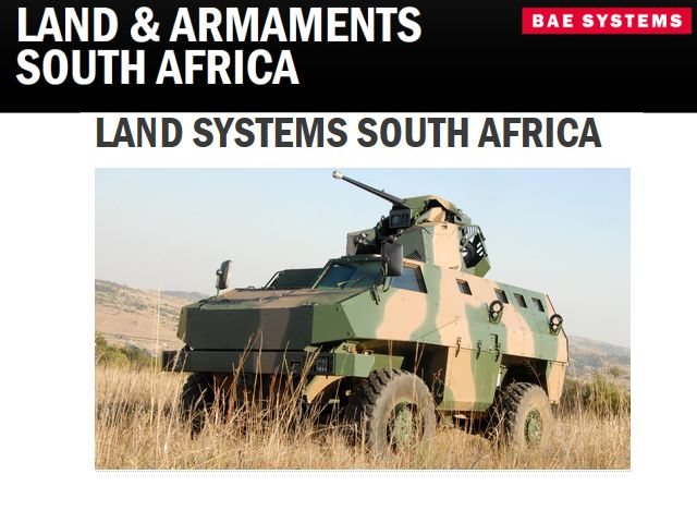 Defence, aerospace and security company Land Systems South Africa, which is 75%-owned by global security and defence company BAE Systems, will launch two new products at the Africa Aerospace and Defence (AAD) 2012 exhibition which will be held from the 19 to 23 September 2012 in Pretoria, South Africa.