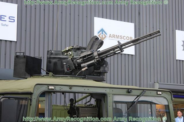 At AAD 2012 the Norinco Light Strike Vehicle CS/VA1 was armed with a Chinese rotary machine gun CS/LM5 with 3 revolving barrels of 12.7x108mm caliber which can fire at a rate of 1,000 and 2,000 rds/min with selectable switch.