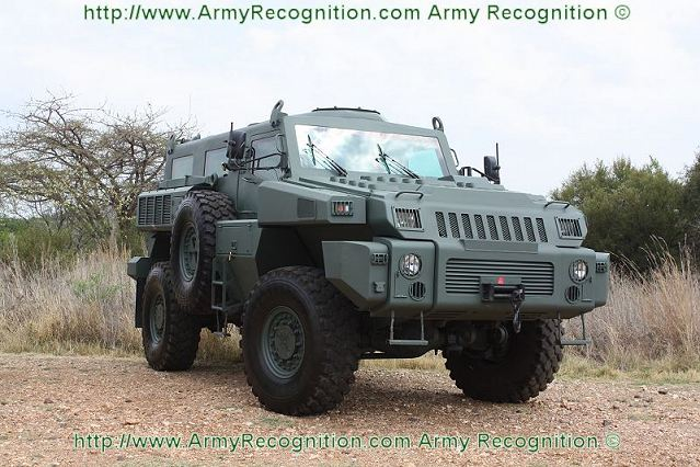 The Marauder is a modern state-of-the-art mine protected 4X4 armoured vehicle in the 10 ton weight class, its the little brother of the Matador with similar protection and payload capability. The Marauder was launched in 2007 as the Matador.
