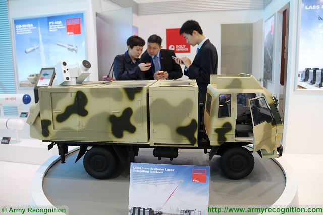 LASS Low-Altitude Laser Defending System Silent Hunter Poly Defence China AAD 2016 South Africa 001