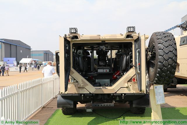 The South African Company LMT presents at AAD 2016, the Africa Aerospace and Defence exhibition its new 4x4 multi-purpose vehicle LM13 fitted the retractable weapons station Meerkat. LMT is a designer and a manufacturer of armoured vehicle based on customer request.