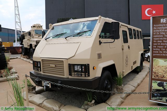 REVA Protection 4x4 armoured vehicle ICP AAD 2016 defense exhibition South Africa 001