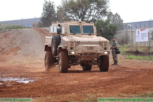 RG31 Mk5 EHM Denel Vehicle Systems AAD 2016 defense exhibition South Africa 001