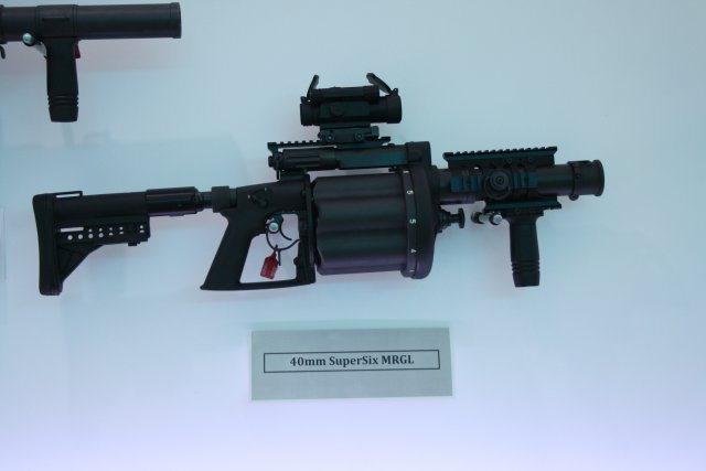 South African company Milkor showcases its range of grenade launchers at AAD 2016 640 001
