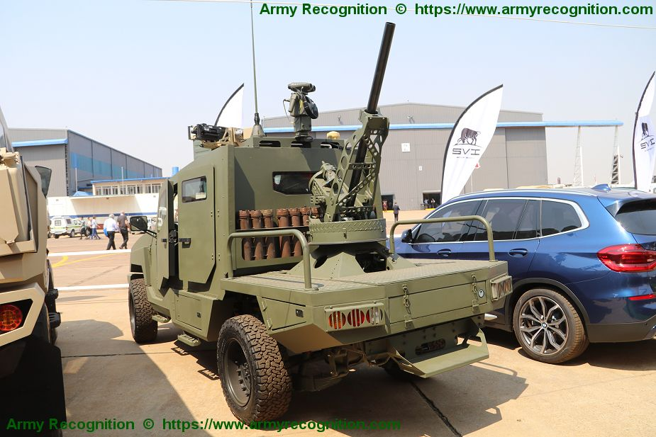 SVI MAX3 4x4 armored vehicle fitted with Thales Scorpion 81 mm mortar AAD 2018 South Africa 925 001