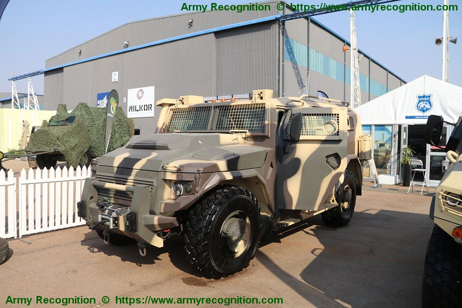 Streit Group showcases its new Falcon 4x4 APC Armored Personnel Carrier AAD 2018 South Africa 925 001
