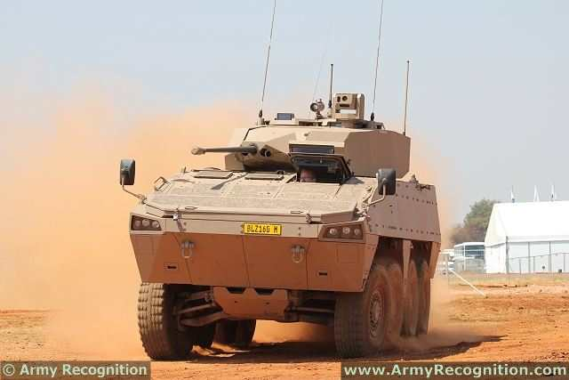 Badger Denel 8x8 armoured infantry fighting vehicle technical data sheet specifications description information intelligence pictures photos images video  identification South Africa African army defence industry military technology personnel carrier