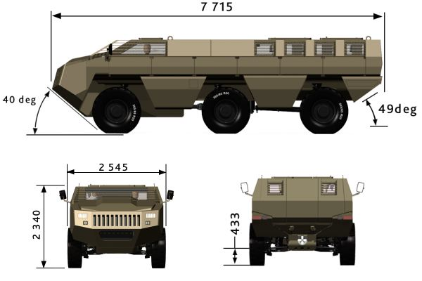Mbombe Paramount Group wheeled armoured fighting vehicle technical data sheet specifications description information intelligence pictures photos images identification South Africa African