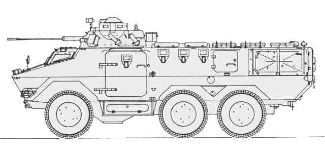 Ratel 20 IFV 6x6 armored infantry fighting vehicle 20mm cannon