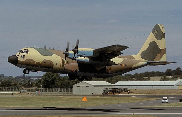 C 130 Military Transport Aircraft with T-10 military tra...
