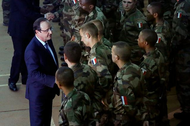 The soldiers' deaths in the capital were announced just before French President Francois Hollande's office said he would make a quick stop-over in Bangui on his way back from a memorial service for the late Nelson Mandela in South Africa.