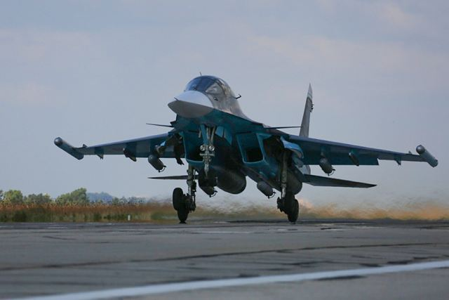 In the last 24 hours, the Russian Air Force fighter in Syria continued airstrikes against ISIS infrastructures.Su-34, Su-24M and Su-25SM performed 64 combat sorties from the Hmeymim airbase engaging 63 ISIS objects located in Hamah, Latakia, Idlib and Raqqah provinces.