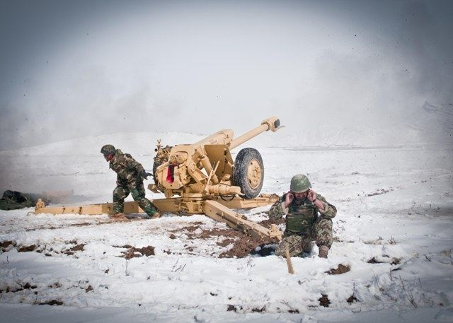 The D-30 artillery battery from the 4th Kandak, 2nd Brigade, 203rd Afghan National Army, was certified for real-world operations in Paktika province by the Ministry of Defense following a successful live-fire exercise, March 13, 2012.