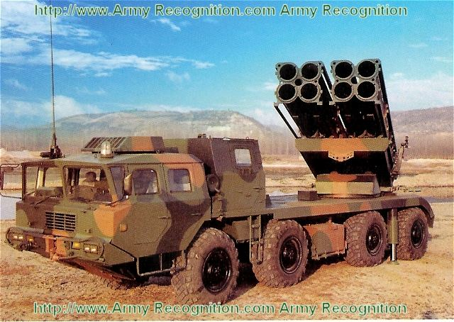 The AR3 is a new MRLS Multiple Rocket Launcher System presented for the first time during the International Defence Exhibition IDEX 2011. The AR3 370mm Multiple Launcher Rocket System (MLRS) is a long range suppressing weapon system developed and manufactured by NORINCO.