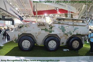 SM4 120mm wheeled 6x6 self propelled mortar carrier NORINCO China Chinese defense industry left side view 001