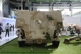 SM4 120mm wheeled 6x6 self propelled mortar carrier NORINCO China Chinese defense industry rear view 001