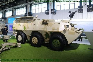 SM4 120mm wheeled 6x6 self propelled mortar carrier NORINCO China Chinese defense industry right side view 001