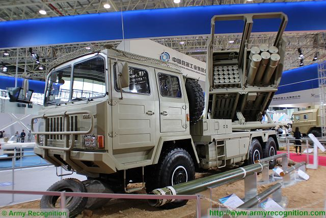 SR5  Guided Multiple Launch Rocket System GMLRS MLRS 122mm 220 mm technical data sheet specifications pictures information description intelligence photos images video identification Norinco China Chinese army defense industry military technology equipment