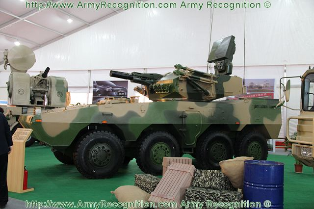 The main armament of this new Chinese SPAAGS consists of 6-barrels 30mm Gatling automatic cannon.