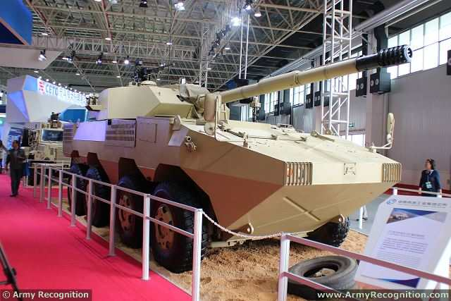 At AirShow China 2014, Chinese Defense Industry presents a new 8x8 tank destroyer vehicle, called ST1. The vehicle is based on the VN1 chassis 8x8 armoured vehicle personnel carrier.