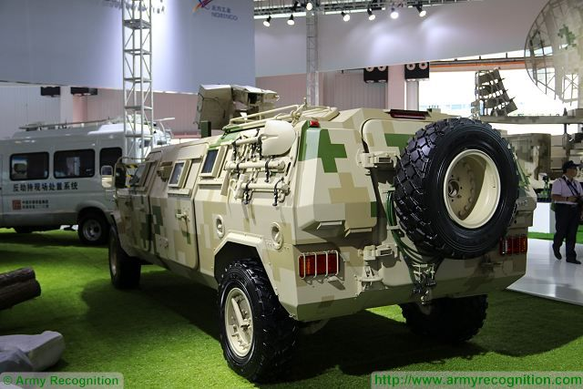 At Zhuhai AirShow China 2016, China South Industries Group unveils its new light 4x4 wheeled armoured vehicle named CS/VN11 in APC (armoured personnel carrier) configuration. The layout of the vehicle is conventional with the engine at the front, driver and commander in the middle and troops compartment at the rear.