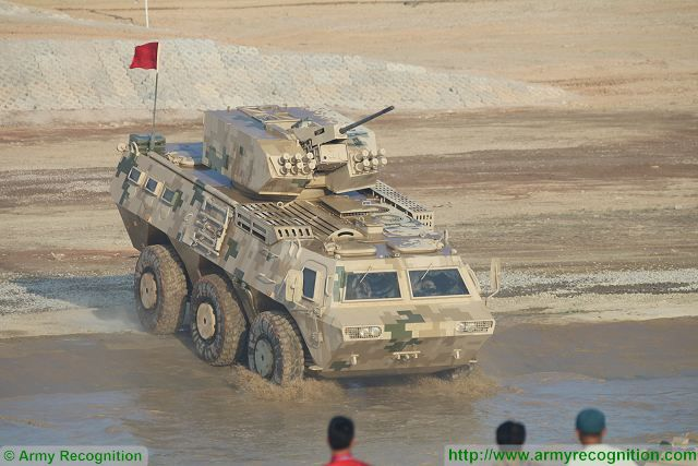 CS/VN9 6x6 armoured personnel carrier at Zhuhai AirShow China 2016 ground mobility demonstration