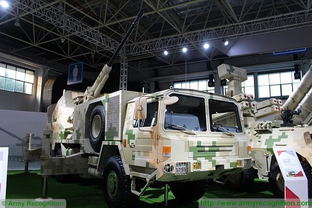 At Zhuhai AirShow China 2016, Chinese Defense Company NORINCO unveils its new SA2 76mm anti-aircraft mobile gun system. This new artillery vehicle is based on 6x6 military truck with a naval turret mounted at the rear of the chassis.