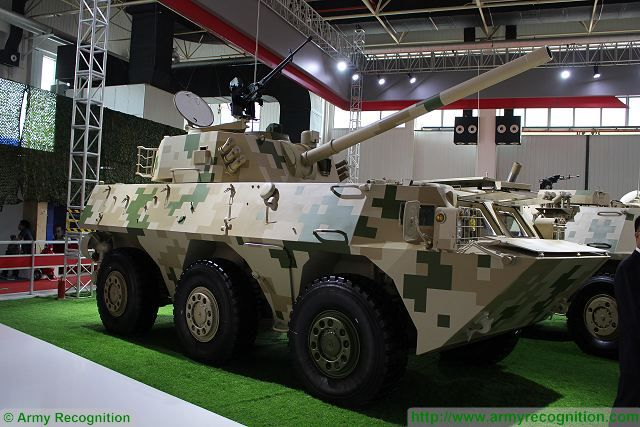 China North Industries Corporation (NORINCO) presents the new 120mm wheeled self-propelled howitzer-mortar SM6 at Zhuhai air Show China 2016, based on the chassis of the WMZ551 6x6 armoured vehicle personnel carrier.