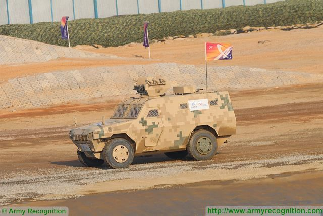 VN4 4x4 armoured personnel carrier at Zhuhai AirShow China 2016 ground mobility demonstration