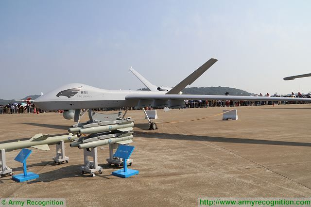 China's Chengdu Aircraft Corporation unveils its new Wing Loong II unmanned combat aerial vehicle (UCAV) at Zhuhai AirShow China 2016. The Wing Loong II can be expected to enter the People's Liberation Army Air Force alongside the smaller Chengdu GJ-1 and the previous version of Wing Loong.