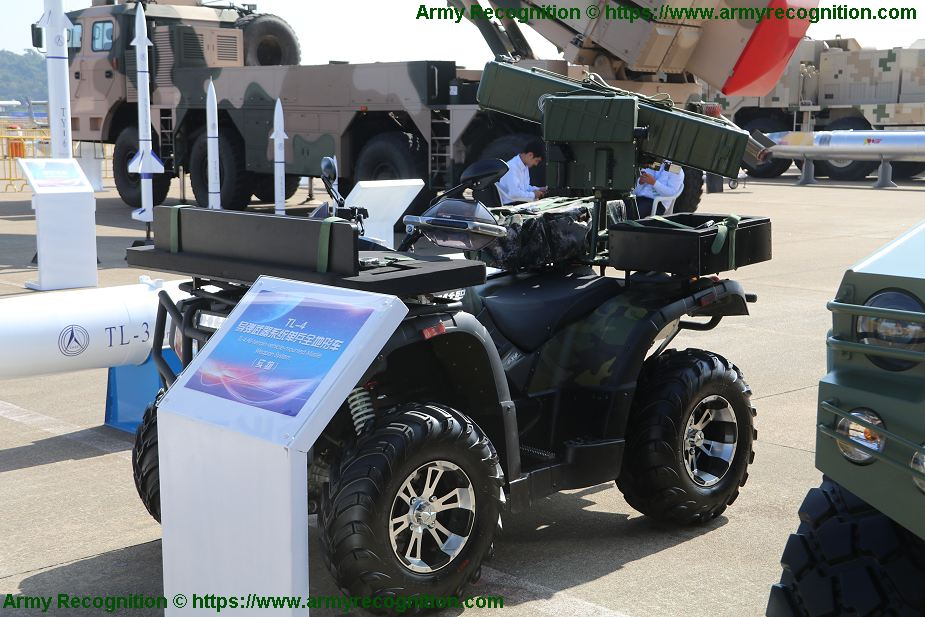 ATV All Terrain Vehicle with TL 4 anti tank missile launcher 925 001