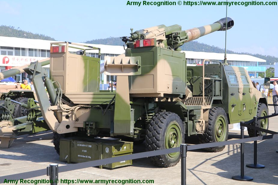 Poly Technology Type 66 152mm 6x6 mobile gun howitzer AirShow China 2018 Zhuhai 925 002