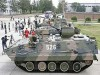 Tanks are displayed during celebrations for the anniversary of the founding of the Chinese People's Liberation Army (PLA) in Beijing August 1, 2008