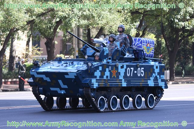 ZBD-03 airborne armoured infantry fighting vehicle technical data sheet specifications information description intelligence pictures photos images China Chinese army identification tracked combat military