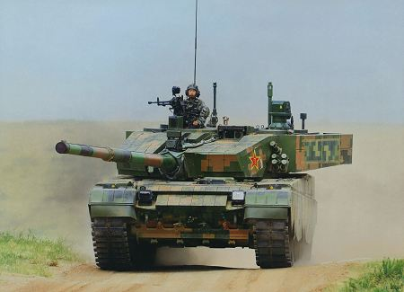 Type 99A A2 ZTZ 99A main battle tank China Chinese army defense industry front view 002