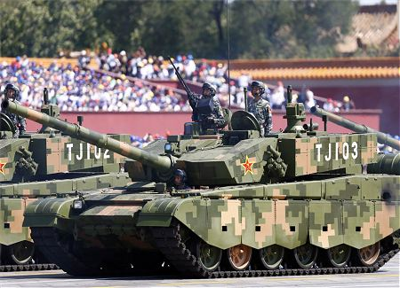 Type 99A A2 ZTZ 99A main battle tank China Chinese army defense industry left side view 002