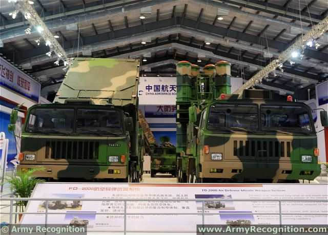 FD-2000 air defence missile system CASIC China Chinese army defence industry military technology 640 001